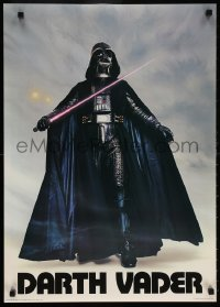 6x089 DARTH VADER 20x28 commercial poster 1977 Seidemann, the Sith Lord w/ lightsaber activated!