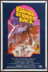 6x108 EMPIRE STRIKES BACK NSS style 1sh R1982 George Lucas sci-fi classic, cool artwork by Tom Jung!