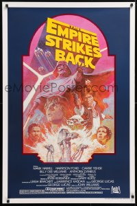 6x109 EMPIRE STRIKES BACK studio style 1sh R1982 George Lucas sci-fi classic, cool artwork by Tom Jung!