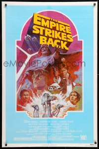 6x106 EMPIRE STRIKES BACK 1sh R1982 George Lucas classic, Tom Jung, ultra rare teal background!