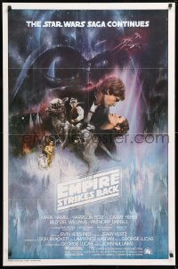 6x105 EMPIRE STRIKES BACK int'l 1sh 1980 classic Gone With The Wind style art by Roger Kastel!