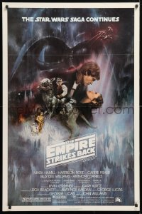 6x103 EMPIRE STRIKES BACK NSS style 1sh 1980 classic Gone With The Wind style art by Roger Kastel!
