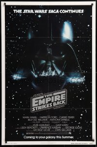 6x102 EMPIRE STRIKES BACK NSS style advance 1sh 1980 George Lucas classic, Vader in space!