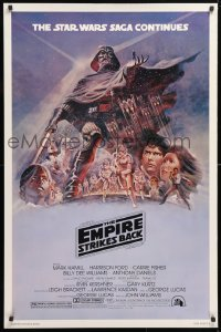 6x100 EMPIRE STRIKES BACK style B 1sh 1980 George Lucas, Tom Jung art, rare purple variant!