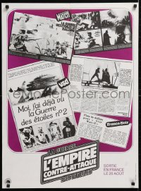 6x132 EMPIRE STRIKES BACK French 23x31 1980 George Lucas sci-fi classic, cool news articles!