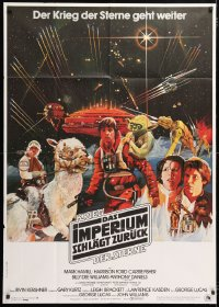 6x133 EMPIRE STRIKES BACK German 33x47 1980 George Lucas sci-fi classic, cool different artwork!