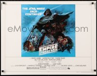 6x115 EMPIRE STRIKES BACK style B 1/2sh 1980 George Lucas classic, cool art by Tom Jung, rare!