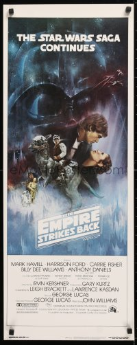 6x118 EMPIRE STRIKES BACK int'l insert 1980 best Gone with the Wind style art by Roger Kastel!