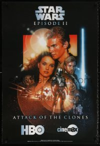 6x242 ATTACK OF THE CLONES tv poster 2003 Star Wars Episode II, Struzan art, now on HBO & Cinemax!