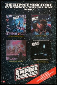 6x146 EMPIRE STRIKES BACK 24x36 soundtrack poster 1980 ultimate music force, art from four albums!