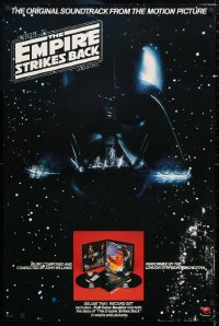6x145 EMPIRE STRIKES BACK 24x36 soundtrack poster 1980 Darth Vader in space, one album inset image!