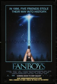 6x254 FANBOYS mini poster 2009 Kyle Newman, cool wacky hands holding toy lightsaber parody image!