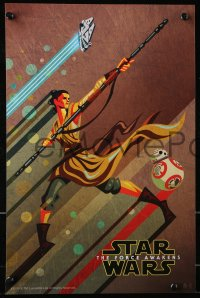 6x265 FORCE AWAKENS group of 3 11x17 special posters 2015 Star Wars: Episode VII, Kaz Oomori art!