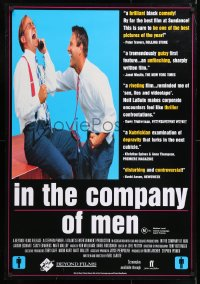 6y075 IN THE COMPANY OF MEN Aust 1sh 1998 huge close-up of Aaron Eckhart!