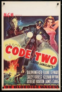 6y095 CODE TWO Belgian 1953 sexy lonely Elaine Stewart seeks romance with Ralph Meeker!