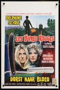 6y097 DAUGHTERS OF DARKNESS Belgian 1971 Delphine Seyrig, sexy vampires, art of straight razor!