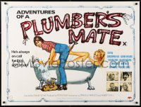 6y447 ADVENTURES OF A PLUMBER'S MATE British quad 1978 Christopher Neil w/sexy naked blonde in tub!
