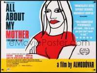6y449 ALL ABOUT MY MOTHER British quad 1999 Pedro Almodovar's Todo Sobre Mi Madre, cool art by Marine!