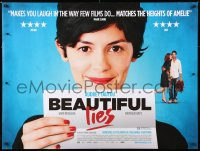 6y457 BEAUTIFUL LIES DS British quad 2011 huge image of pretty Audrey Tautou!