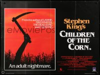 6y462 CHILDREN OF THE CORN British quad 1983 Stephen King horror, and a child shall lead them!