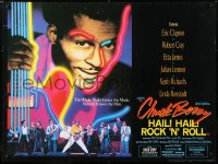 6y463 CHUCK BERRY HAIL! HAIL! ROCK 'N' ROLL British quad 1987 Chuck Berry, Keith Richards, Taylor Hackford!