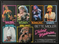 6y468 DIVINE MADNESS British quad 1980 great images of Bette Midler performing live on stage!