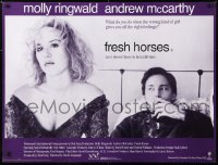 6y475 FRESH HORSES British quad 1990 close-up of sexy Molly Ringwald, Andrew McCarthy!