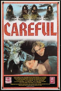 6y019 CAREFUL Canadian 1sh 1992 Kyle McCulloch, Gosia Dobrowski, wild images!