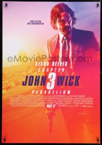 6y020 JOHN WICK CHAPTER 3 advance Canadian 1sh 2019 Keanu Reeves in the title role as John Wick!