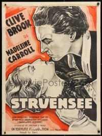 6y024 DICTATOR group of 2 Danish posters 1935 Clive Brook & beautiful Madeleine Carroll!
