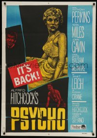 6y055 PSYCHO Egyptian poster R1960s Janet Leigh, Anthony Perkins, Alfred Hitchcock classic!