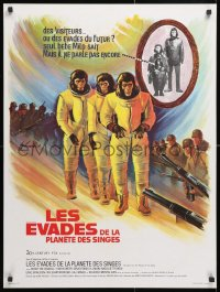 6y819 ESCAPE FROM THE PLANET OF THE APES French 24x32 1971 different Grinsson sci-fi artwork!