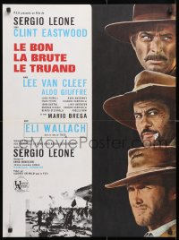 6y834 GOOD, THE BAD & THE UGLY French 23x31 R1970s Clint Eastwood, Lee Van Cleef, Sergio Leone!