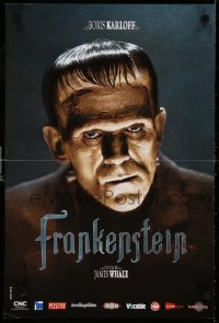6y926 FRANKENSTEIN French 16x24 R2008 wonderful close up of Boris Karloff as the monster!