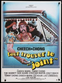 6y993 UP IN SMOKE French 16x21 1979 Cheech & Chong marijuana drug classic, great artwork!
