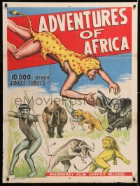 6y058 ADVENTURES OF AFRICA Indian 1960s 10,000 other jungle thrills!