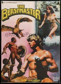 6y060 BEASTMASTER Indian 1982 bare-chested Marc Singer & sexy Tanya Roberts!