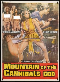 6y069 SLAVE OF THE CANNIBAL GOD Indian 1979 sexy Ursula Andress in danger in the jungle!