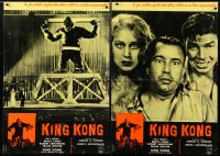 6y666 KING KONG group of 8 Italian 19x27 pbustas R1961 Fay Wray, Cabot, Armstrong & giant ape!