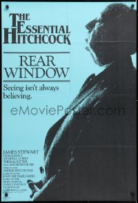 6y006 REAR WINDOW South African R1983 Stewart, Kelly, profile of Alfred Hitchcock over blue!