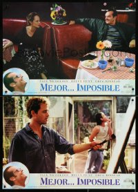 6y166 AS GOOD AS IT GETS group of 4 Spanish 1998 different images of Jack Nicholson & Helen Hunt!