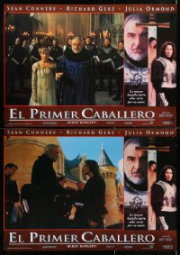 6y170 FIRST KNIGHT group of 4 Spanish 1995 Richard Gere as Lancelot, Sean Connery as Arthur, Julia Ormond!