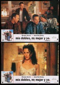 6y179 MULTIPLICITY group of 4 Spanish 1996 many Michael Keatons & one sexy Andie MacDowell!