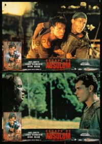 6y180 NO ESCAPE group of 4 Spanish 1995 Ray Liotta, Kevin Dillon, cool action images!