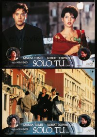6y181 ONLY YOU group of 4 Spanish 1994 Marisa Tomei & Robert Downey Jr. romantic comedy!