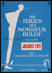 6y031 MR. HULOT'S HOLIDAY Swiss R1970s Jacques Tati, Les vacances de Monsieur Hulot