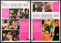 6y035 TASTE THE BLOOD OF DRACULA group of 3 Yugoslavian 14x20s 1970 images of Christopher Lee!