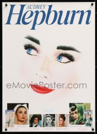 6z025 AUDREY HEPBURN 17x24 video poster 1985 different art and images of the gorgeous star!