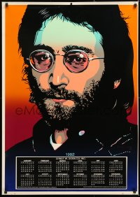 6z008 JOHN LENNON calendar 1992 great close-up art of the legend by Tracy Sabine!