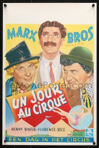 6z044 AT THE CIRCUS 14x21 Belgian REPRO poster 1990s wonderful artwork of the Marx Brothers!